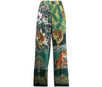 Hose mit Tiger-Print