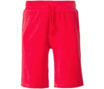 velvet contrast stripe shorts