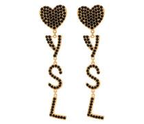 YSL embellished drop earrings