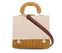 Handtasche mit Korbdetail