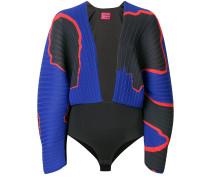 V-neck pleated bodysuit
