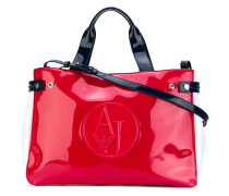 high shine tote bag
