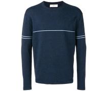 Melierter Pullover mit Streifen