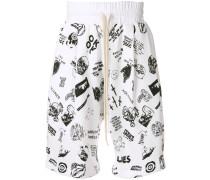 skull print shorts