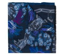 Schal mit Blumenstickerei