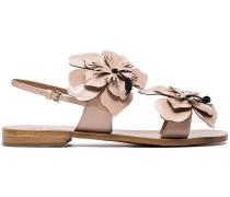 Sandalen mit floralem Detail