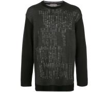 Pullover mit Symbole-Print