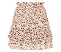 leopard print flippy skirt