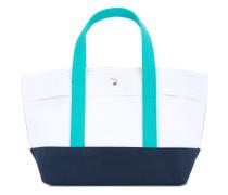colour block small tote bag