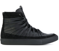 High-Top-Sneakers mit Lederschnüren