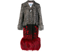 Mantel mit Fuchspelzsaum
