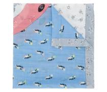 Schal mit Pinguinmuster
