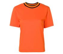 T-Shirt mit Kontrastausschnitt
