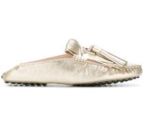 slip-on tassel loafers
