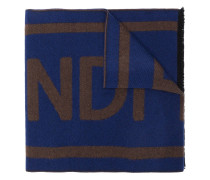 logo jacquard-weave scarf