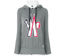 logo patch hooded sweatshirt
