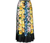 florage print pleated skirt