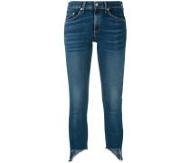 Skinny-Jeans mit asymmetrischen Bündchen
