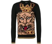 'Royal Lion' Intarsienpullover