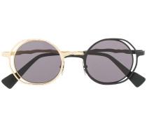 Zweifarbige Sonnenbrille mit rundem Gestell