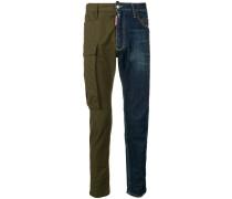 Cargohose mit Jeanseinsatz