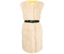 sleeveless faux shearling coat