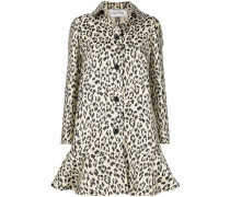 Seidenmantel mit Leopardenmuster