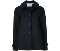 'Loden' Jacke mit Faux-Fur-Besatz