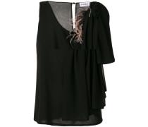 asymmetric sleeve blouse
