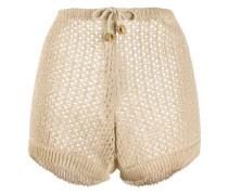 Perforierte Shorts mit Kordelzug