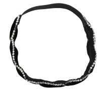 braided crystal-embellished headband