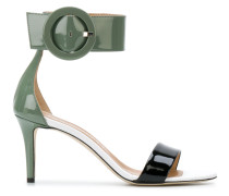 oversized buckle detail sandals