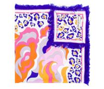 Seidenschal mit abstraktem Print