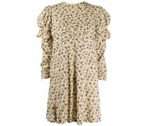 Fashion Show Geblümtes Kleid mit Puffärmeln