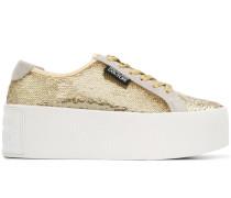 Plateau-Sneakers mit Pailletten
