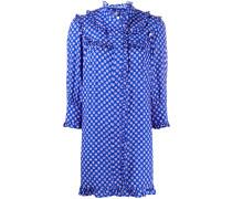 Gepunktetes Kleid mit Rüschen