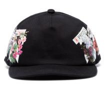 Baseball-Kappe mit floralen Stickerei