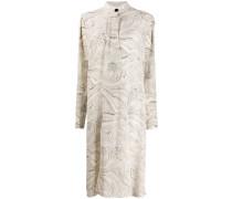 Kleid mit Marmor-Print