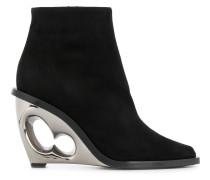 sculpted heel boots