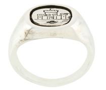 engraved castle flip ring