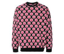 peace symbol print sweatshirt