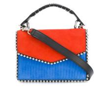 colour block mini tote bag