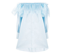 Schulterfreies Hemdkleid