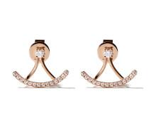18kt 'Mini Charm' Rotgoldohrringe mit Diamanten