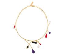 Halskette mit Emaille-Anhängern