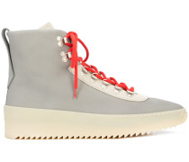 colour-block hi-top sneakers