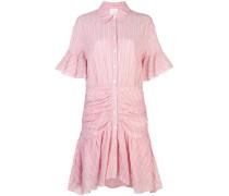 Gestreiftes Kleid mit Raffung