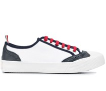 leather-trim sneakers