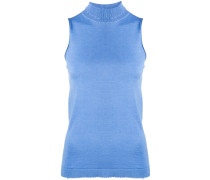 roll-neck sleeveless top