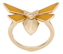 18kt  winged bug diamond ring